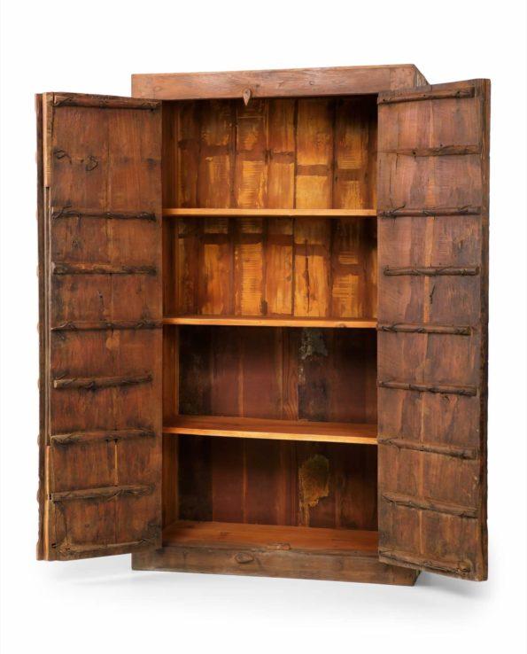 D  Antique Indian Door Cupboard open F web