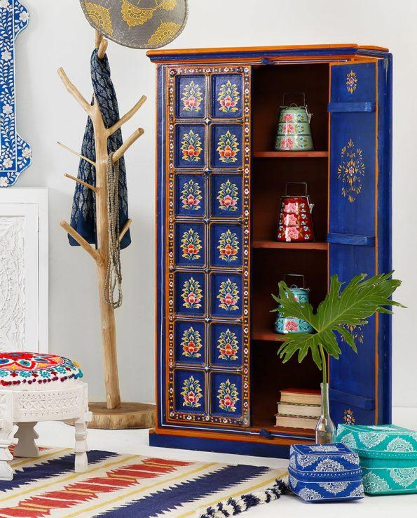 Neela floral hand painted almirah set
