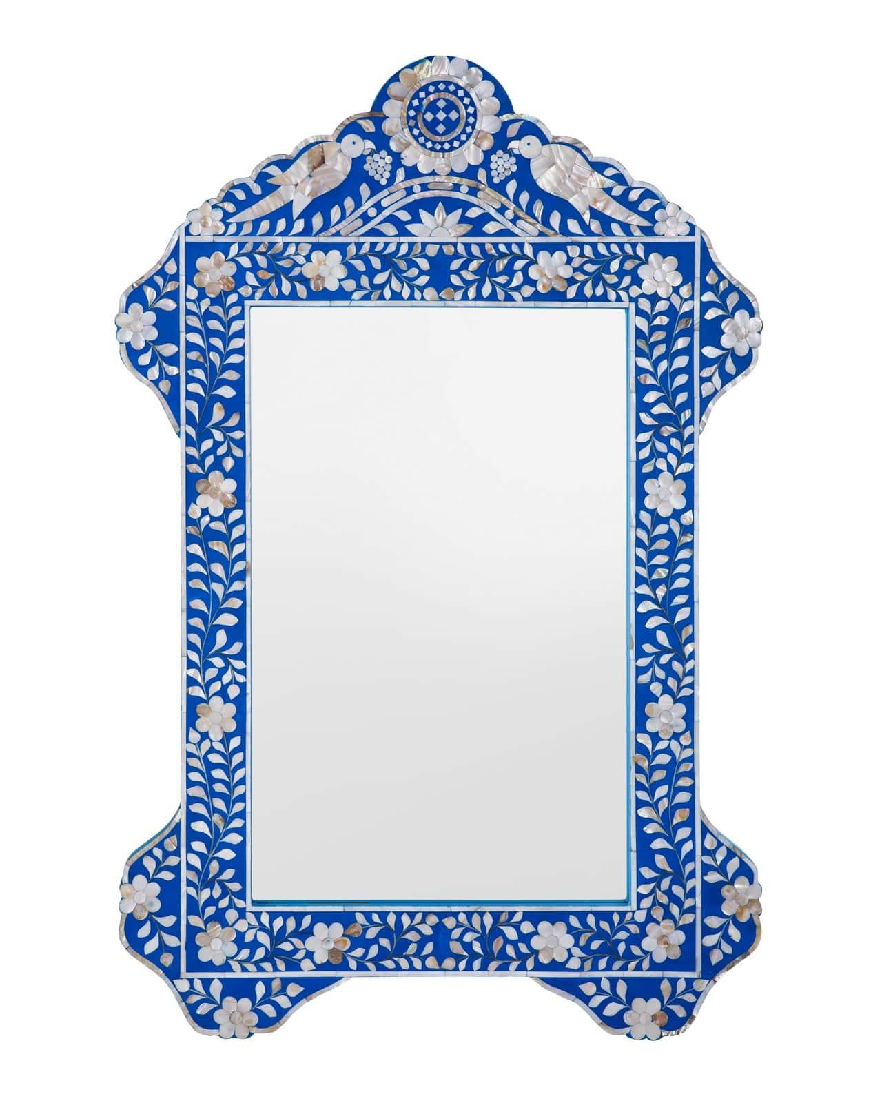Bird Mother Of Pearl Inlay Mirror