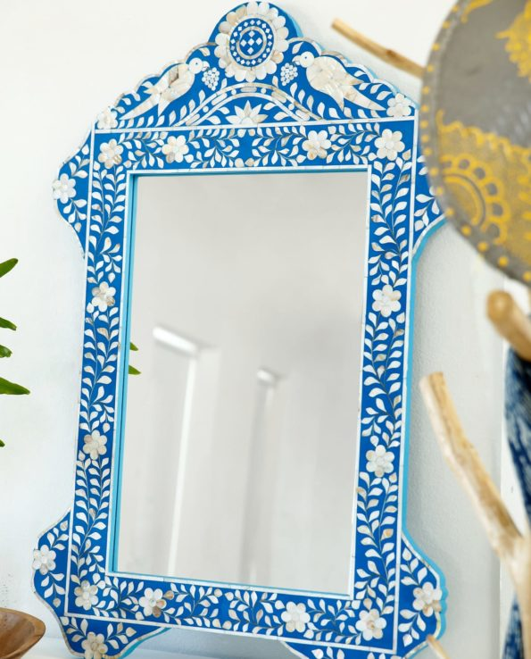 Mother of pearl bird mirror room set