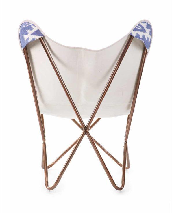 Ikat buttefly chair back