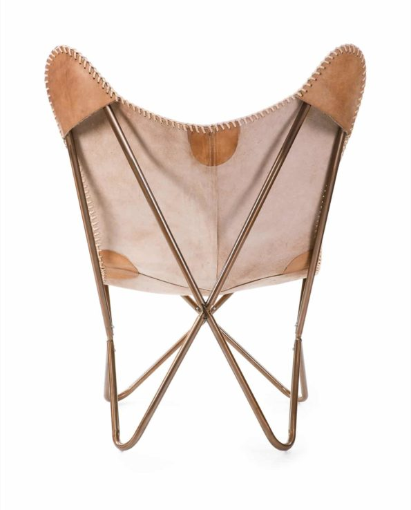 Rustic chair leather back
