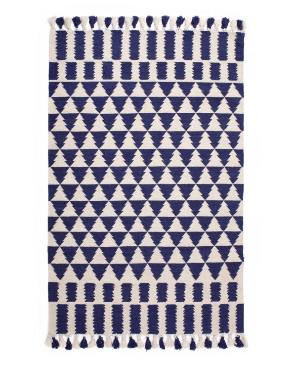 Zigzag hand weaved dhurrie – 152 x 215 cm