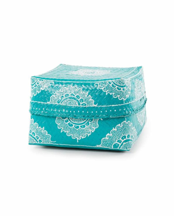 Big Keben basket – mint and white
