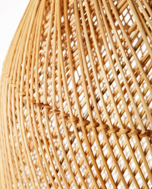 Bamboo pendant long closeup