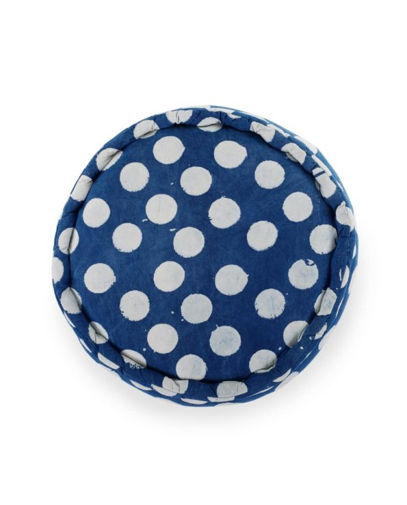 Rustic nautical indigo ottoman top