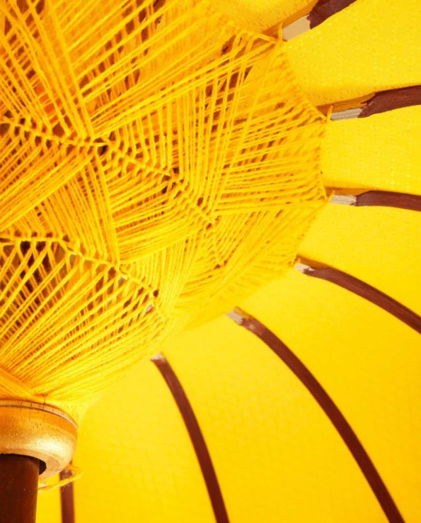 Yellow Bali Cer Umbrella closeup