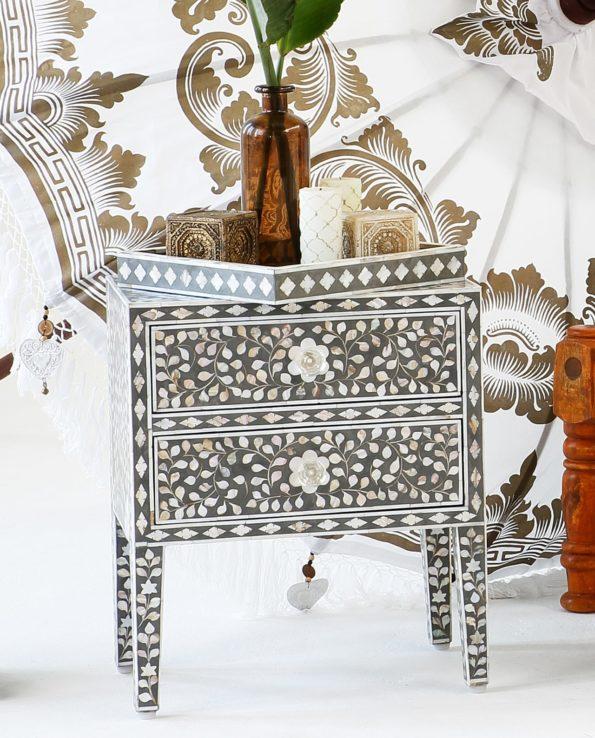 mother of pearl Bedside Cabinet room set