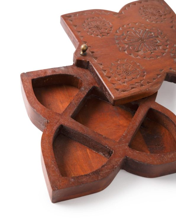 Indian spice box – square detail