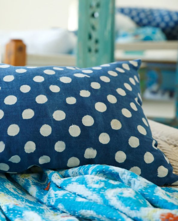 dotted cushion closeup