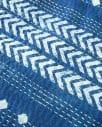indigo diamond and arrow kantha quilt detail