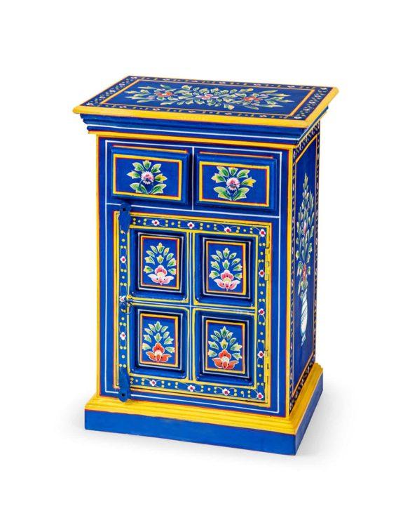 Neela floral hand painted bedside cabinet