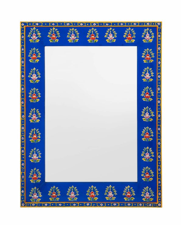 Neela floral hand painted mirror