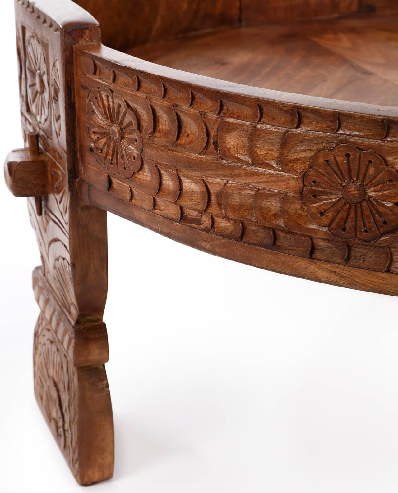 Coffee Table With Storage India: Indian Chakki Coffee Table