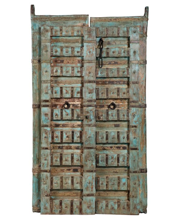 Reclaimed haveli door blue 1