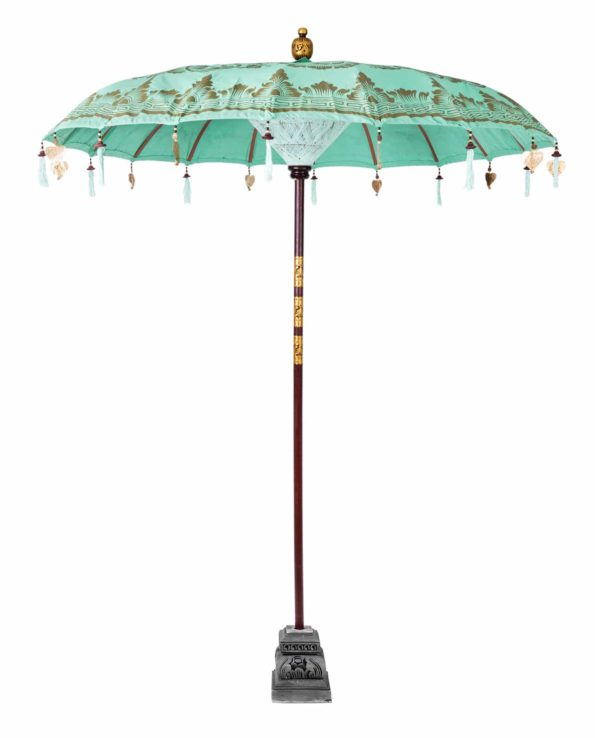 Balinese ceremonial umbrella and stand peppermint crisp – Big