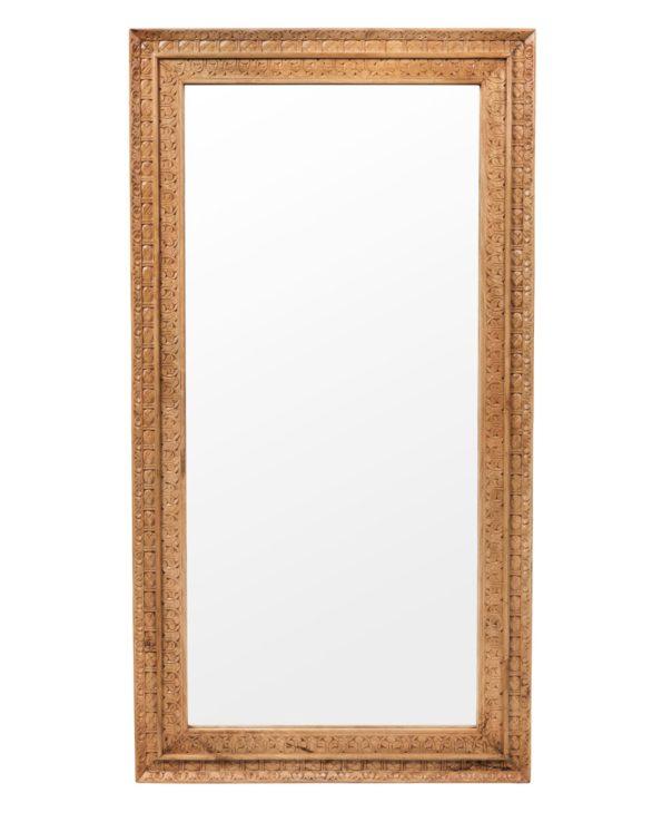Jodhpur hand-carved mirror