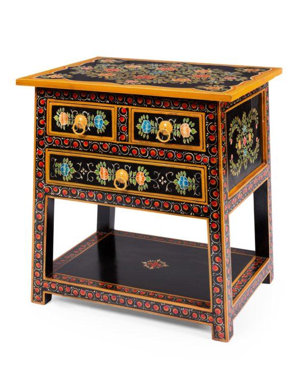 Kashni hand-painted bedside table