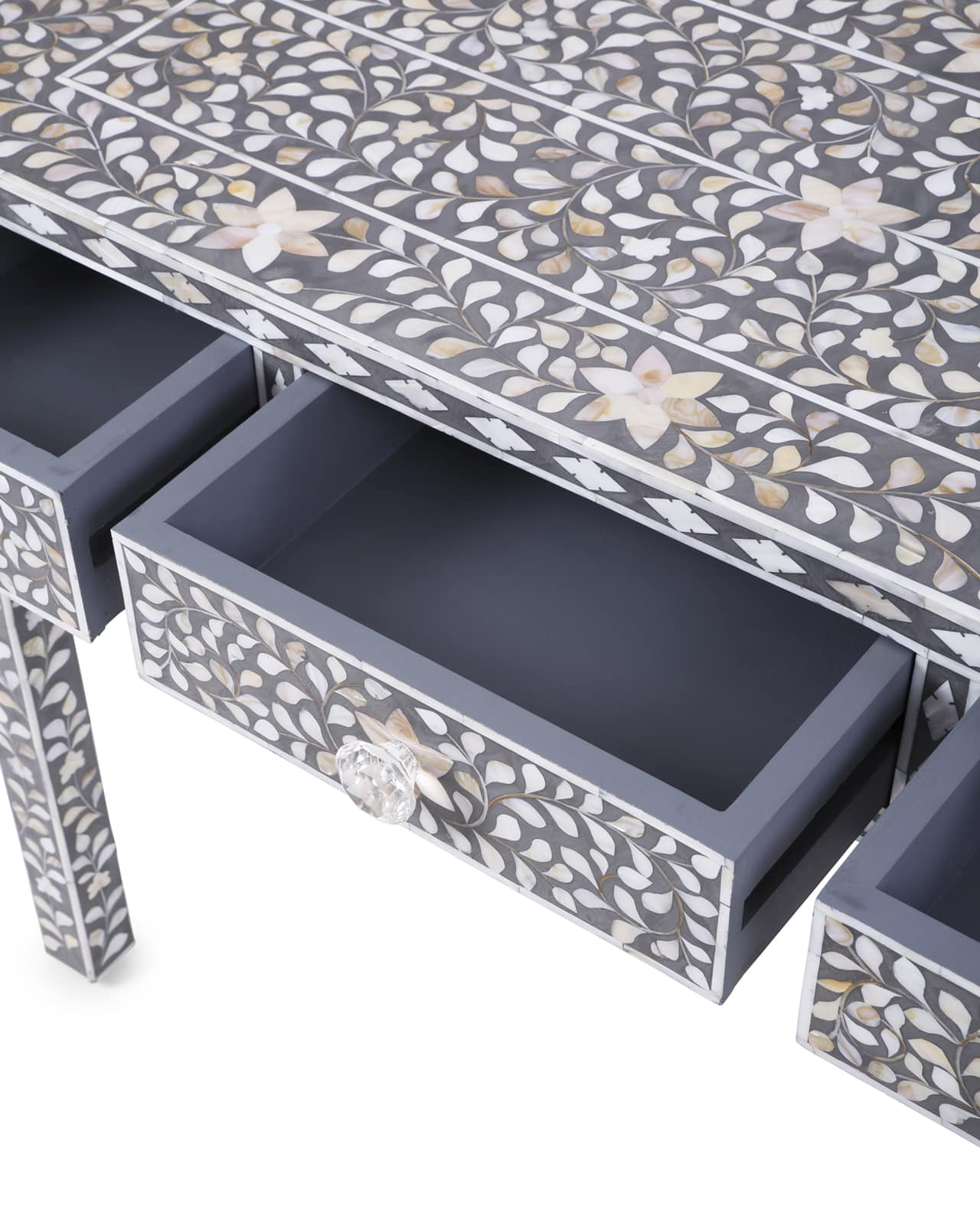 Mother Of Pearl Inlay Furniture 3 Draw Console Table In Sa