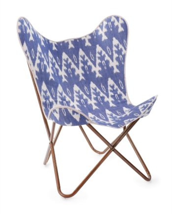 Ikat butterfly chair front