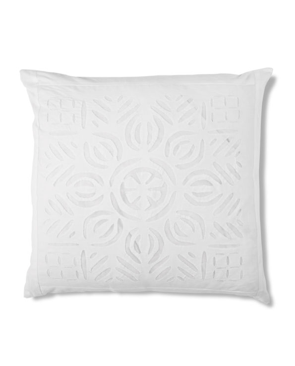 Applique cushion with feather down inner 1