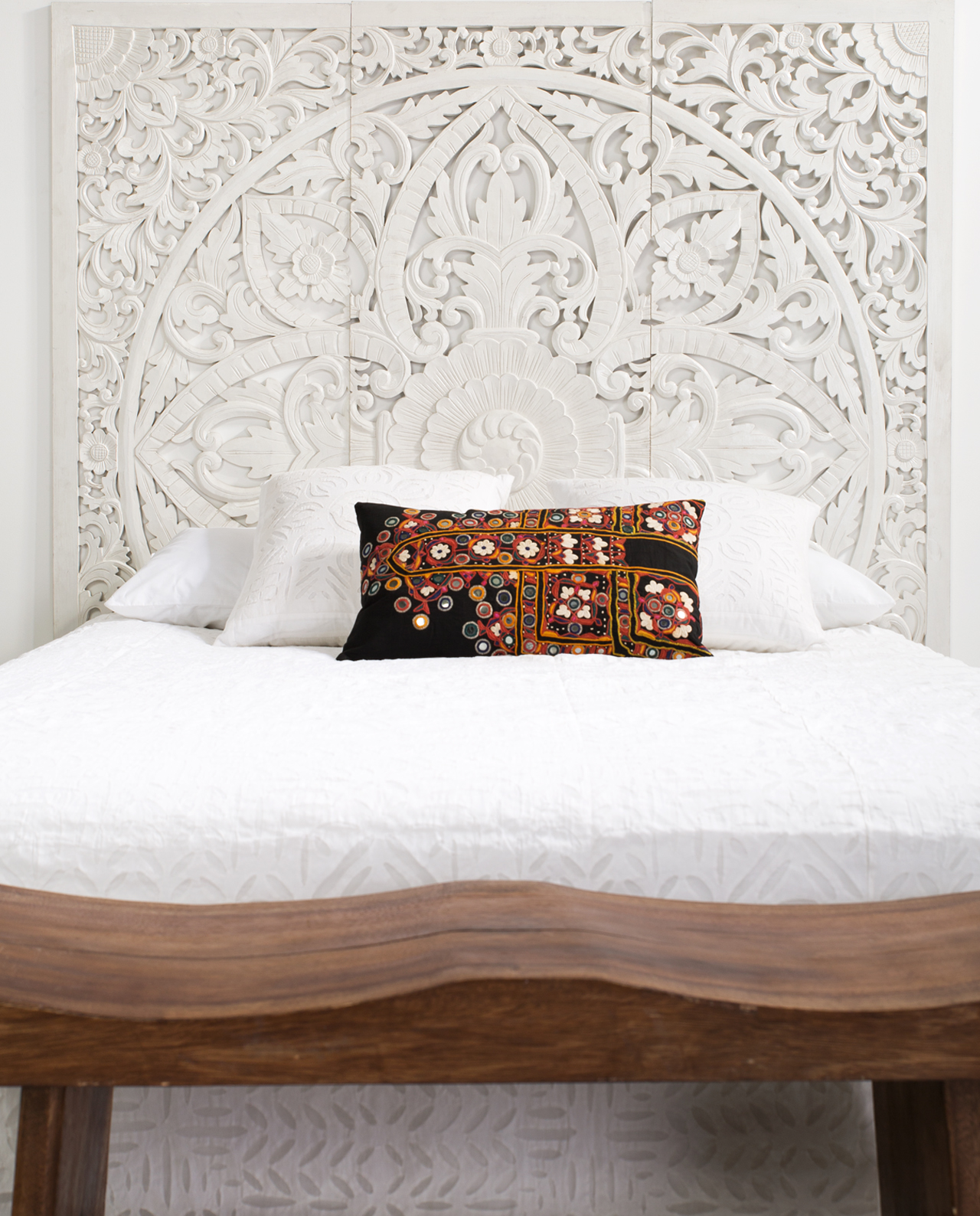 Carved Headboards Kembang Carved King Size Headboard In Sa