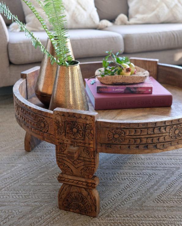 Indian Chakki Coffee Table L82cm   W82cm   H36cm