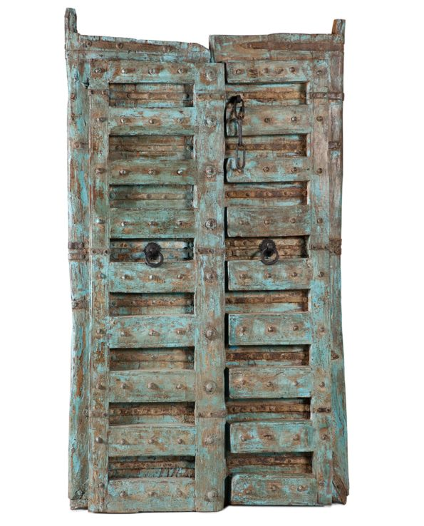 Reclaimed haveli door blue 2