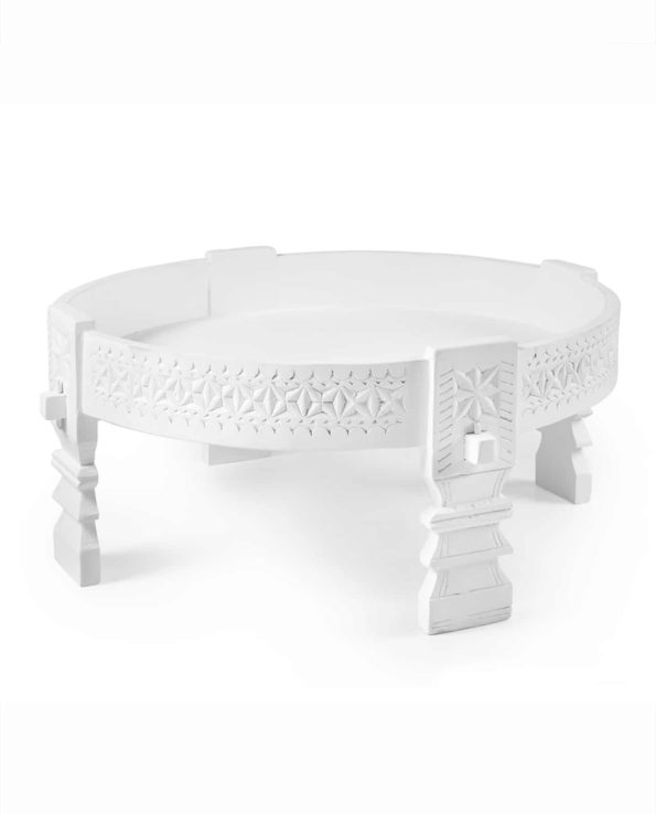 Indian chakki Coffee table – white