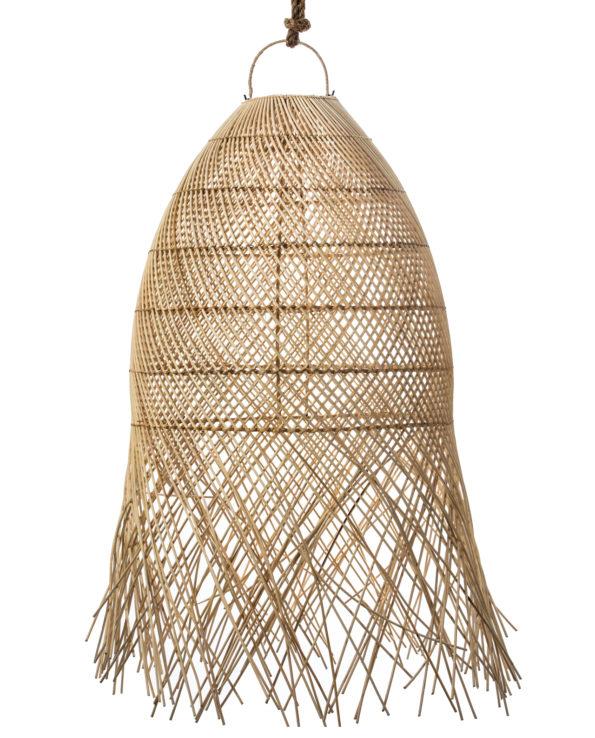Rattan pendant with tassels 90hx60w