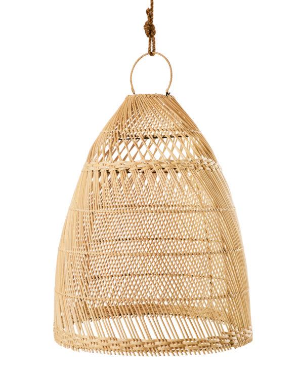 Rattan pendant cone – big 62h x 50w