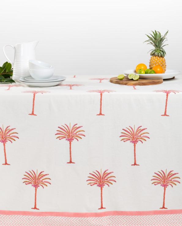 Tropical sunset palms table cloth 170cm x 200cm