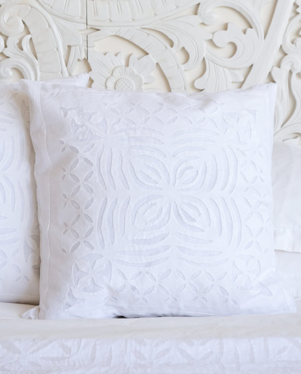 Applique cushion with feather down inner 4