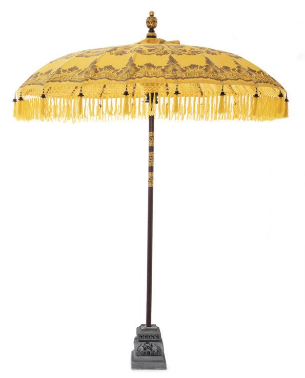 Balinese ceremonial umbrella and stand sunshine yellow – Big 230hx200w